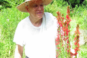 Harry with cardinal flower